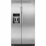 Counter Depth Kitchenaid  Side-by-Side Refrigerator with Exterior Ice and Water 20 Cu. Ft. KRSC500ESS