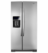 Counter Depth Whirlpool Side by Side Refrigerator Model #WRS970CIDM with StoreRight Dual Cooling System 36 �inch Wide  20 cubic. feet.