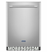 Maytag Quietest Dishwasher Ever MDB8969SDM Large Capacity with Full Stainless Steel Tub 47 dBA