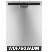 Whirlpool 49 dBA Gold Dishwasher with TargetClean Option WDF760SADM ENERGY STAR