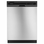 Amana Front Control Dishwasher in Stainless Steel ADB1300AFS with 12-Place Setting Capacity