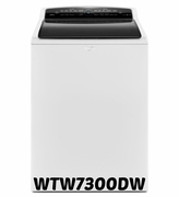 Whirlpool High-Efficiency Top Load Washer with Steam Clean Option WTW7300DW 4.8 cu. ft. Cabrio ENERGY STAR