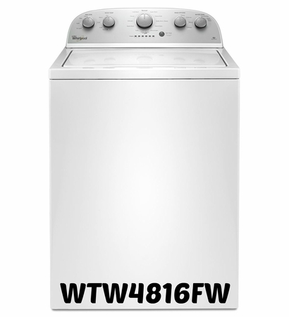 Whirlpool Top Load Washer in White 3.5 cu. ft. Model #WTW4816FW
