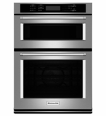 """KitchenAid 27"""" Combination Wall Oven with Microwave Even-Heat True Convection KOCE507ESS (Lower Oven)"""
