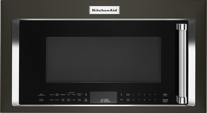 "KitchenAid 30"" Black Stainless Steel Over-The-Range Microwave - KMHS120EBS"