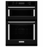 """KitchenAid 30"""" Combination Wall Oven with Microwave Even-Heat True Convection KOCE500EBL (Lower Oven)"""