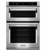 """KitchenAid 30"""" Combination Wall Oven with Microwave Even-Heat True Convection KOCE500ESS (Lower Oven)"""