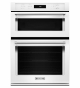 "KitchenAid 30"" Combination Wall Oven with Microwave Even-Heat True Convection KOCE500EWH (Lower Oven)"