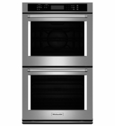 """KitchenAid  30"""" Double Wall Oven with Even-Heat� True Convection (Upper Oven) KODE300ESS"""