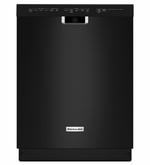 "KitchenAid  Black Dishwasher  KDFE104DBL 24"" Dishwasher with 14 Place Settings, Front Controls, 6 Wash Cycles, 5 Options, 46 dBA ENERGY STAR"