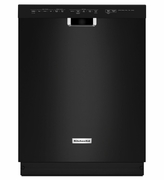 """KitchenAid  Black Dishwasher  KDFE104DBL 24"""" Dishwasher with 14 Place Settings, Front Controls, 6 Wash Cycles, 5 Options, 46 dBA ENERGY STAR"""