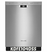 "KitchenAid Dishwasher KDFE104DSS 24"" Dishwasher with 14 Place Settings, 46 dBA"