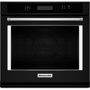 KitchenAid Black Wall Oven KOSE500EBL 30 inch Single Wall Oven with Even-Heat and True Convection
