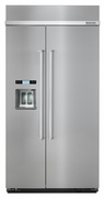 Kitchenaid Built in Side by Side Refrigerator in Stainless Steel 25.2 cu ft  Model #KBSD612ESS