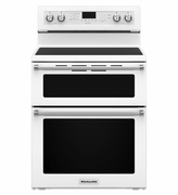 Kitchenaid Range 5 Burner Electric Double Oven Convection Range WHITE KFED500EWH 30-Inch
