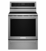 Kitchenaid Stainless Steel 5 Element Electric Convection Range with Warming Drawer 30 Inch KFES530ESS