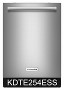 Kitchenaid 39 dBA Dishwasher with ProScrub Option & Third Level Rack KDTE254ESS ENERGY STAR