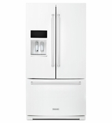 Kitchenaid 26.8 cu.ft French Door Refrigerator with Electronic Temperature-Controlled Pantry, Exterior Ice and Water  KRFF507EWH