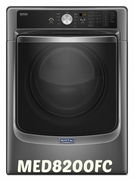 LARGE CAPACITY  MAYTAG DRYER WITH REFRESH CYCLE WITH STEAM AND POWERDRY SYSTEM � 7.4 CU. FT. MODEL #MED8200FC