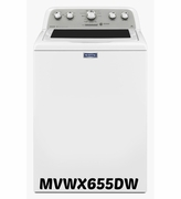 Maytag Bravos MVWX655DW Top-Load Washer with 4.3 cu. ft. Capacity, 11 Wash Cycles, PowerWash System, Commercial Technology, Stainless Steel Tub
