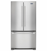 MAYTAG COUNTER DEPTH STAINLESS STEEL 3-DOOR FRENCH DOOR REFRIGERATOR WITH COUNTER DEPTH STYLING 20 CU. FT. MFC2062DEM
