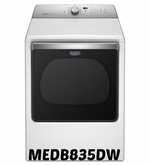 MAYTAG DRYER  EXTRA-LARGE CAPACITY DRYER MEDB835DW  WITH POWERDRY CYCLE - 8.8 CU. FT.
