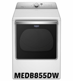 Maytag 8.8 cu. ft. Extra-Large Capacity Dryer with Advanced Moisture Sensing MEDB855DW