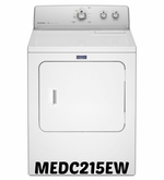 MAYTAG Dryer EXTRA-LARGE CAPACITY DRYER MEDC215EW WITH AUTODRY SENSOR - 7.0 CU. FT.