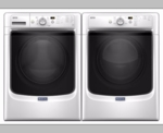Maytag Front Load Pair Laundry Washer MHW3505FW and Dryer MED3500FW