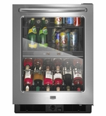 MAYTAG MINI REFRIGERATOR DUAL TEMPERATURE ZONE BEVERAGE CENTER MBCM24FWBS
