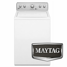 "Maytag Top Load Washer MVWC300BW 27.5"" 3.6 cu. ft. Capacity Top Load Washer with Power Wash Cycle"