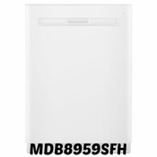 Maytag Top Control Dishwasher in White with Stainless Steel Tub Model #MDB8959SFH ENERGY STAR