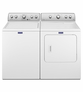 Washer and Dryer Pair Combo , Maytag Top Load Washer MVWC555DW , Electric Maytag Dryer MEDC555DW