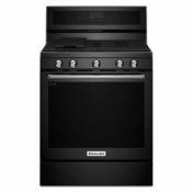 New Kitchenaid Gas Range KFGG500EBL Black Gas Burner Range 5 Burners