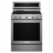 New Kitchenaid Gas Range  KFGG500ESS Stainless Steel Gas Burner Range 5 Burners