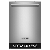 Kitchenaid Stainless Steel Dishwasher Kitchenaid KDTM404ESS Dishwasher with Dynamic Wash Arms 44 dBA ENERGY STAR