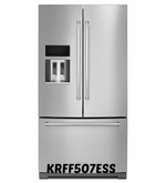 KitchenAid 26.8 cu.ft Stainless Steel French Door Refrigerator with Exterior Ice and Water, Preserva Food Care System KRFF507ESS
