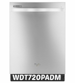 Whirlpool 51 dBA Dishwasher with AnyWare Plus Silverware Basket WDT720PADM ENERGY STAR Stainless Steel