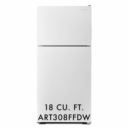 Amana 18 cu. ft. Refrigerator with Two Humidity Controlled Drawers ART308FFDW