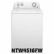 Amana 3.5 Cu Ft Porcelain Tub, Deep Water Wash Option NTW4516FW Washer