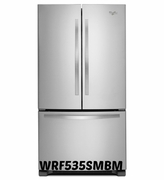 Whirlpool 25 cu. ft. Stainless Steel French Door Refrigerator FreshFlo Produce Preserver WRF535SMBM