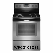 Whirlpool 4.8 Cu. Ft. Capacity Self-Cleaning Range with AccuBake - Stainless Steel WFC310S0ES