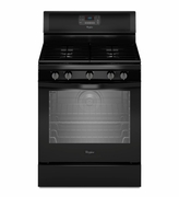 Whirlpool Black Gas Range Freestanding 5.8 Cu. Ft. with AquaLift Self-Cleaning Technology WFG540H0EB