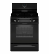 Whirlpool Black Gas Range WFG515S0EB Freestanding Gas Range with AccuBake Temperature Management System 5.0 Cu. Ft.