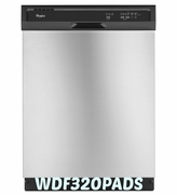 Whirlpool Dishwasher with AccuSense Soil Sensor 55 dBA Built in Dishwasher Model #WDF320PADS ENERGY STAR