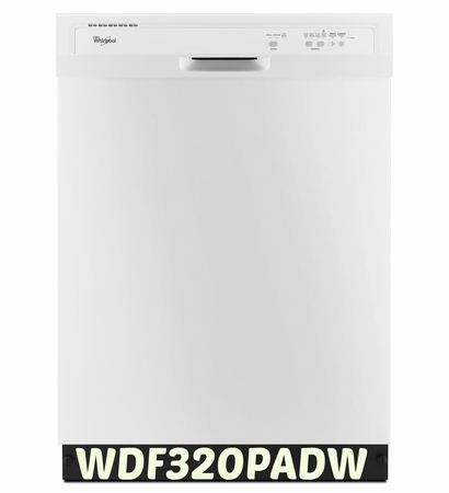 Whirlpool 55 dBA Dishwasher with AccuSense Soil Sensor WDF320PADW ENERGY STAR