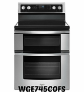 Whirlpool Double Oven Convection Electric Range WGE745C0FS