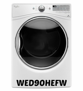 Whirlpool Front Load Electric Dryer with Steam in White Model #WED90HEFW  7.4 cu. ft.