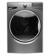 Whirlpool Front Load Washer with 12-Hour Chrome Gray  FanFresh option Model #WFW90HEFC  4.5 cu ft.