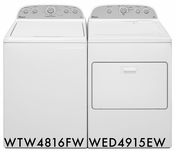 Whirlpool Pair Combo 3.5 CU. FT Washer WTW4816FW 7.0 CU. FT. Dryer WED4915EW